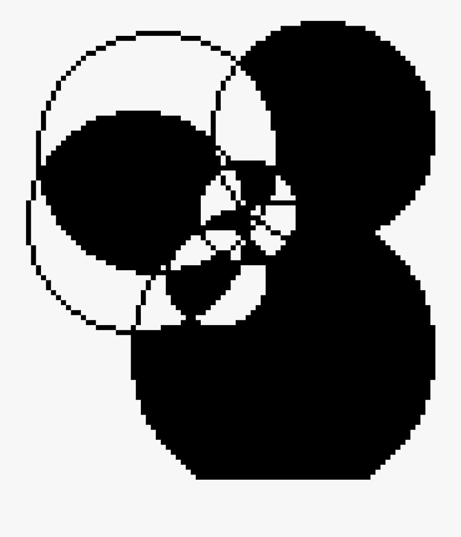 Transparent Scary Skeleton Clipart - Big Pixel Art Circle, Transparent Clipart