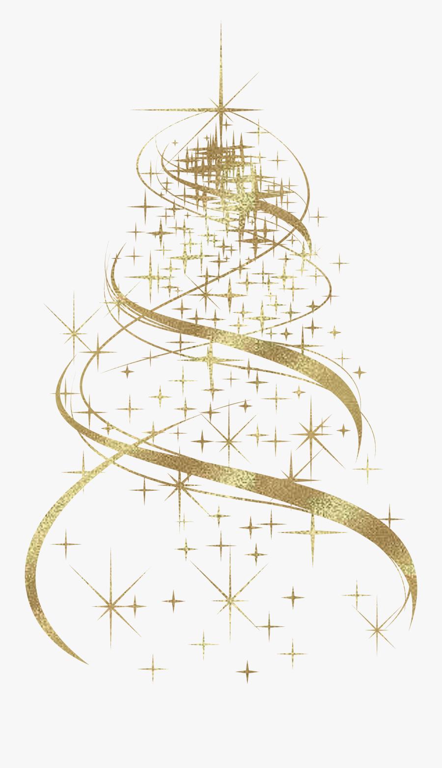 Transparent Golden Christmas Tree Decoration Png Clipart - Christmas Tree Decorations Png, Transparent Clipart