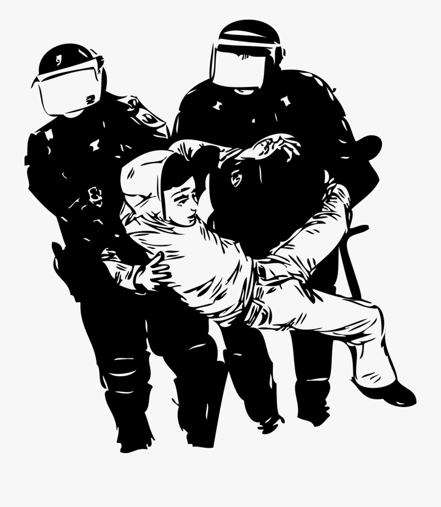 Cop Clipart Police Violence - Drawing Of Police Brutality , Free  Transparent Clipart - ClipartKey