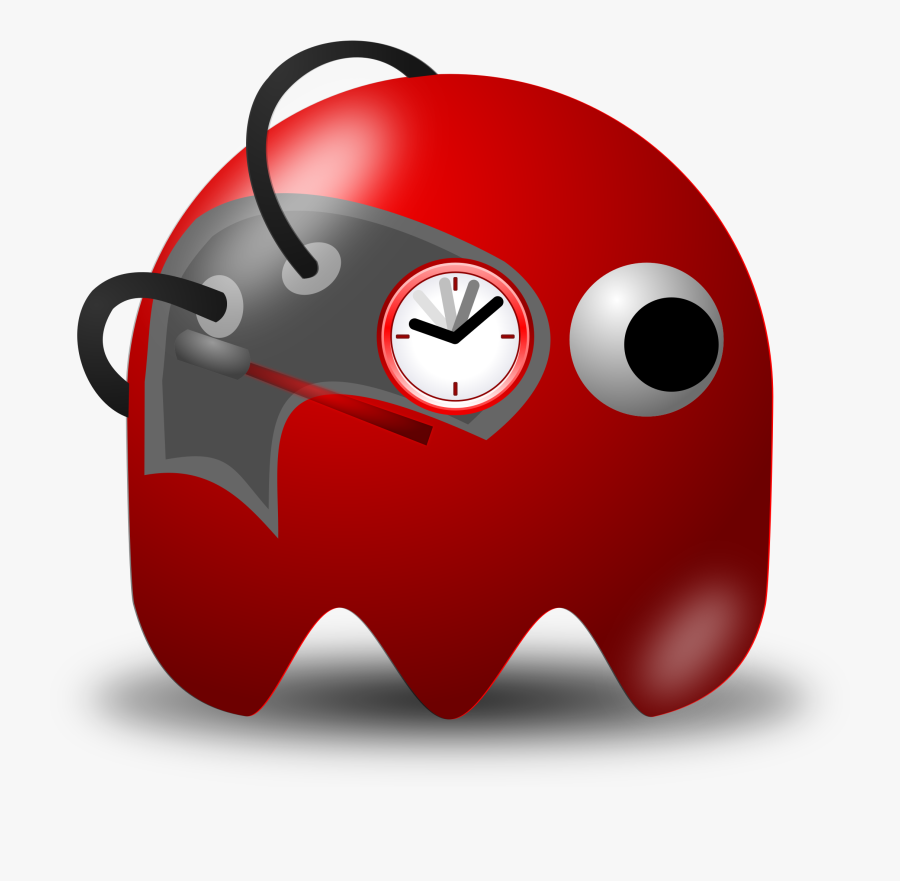 Padepokan Real Timer Clipart, Vector Clip Art Online, - Brown Pac Man Ghost, Transparent Clipart