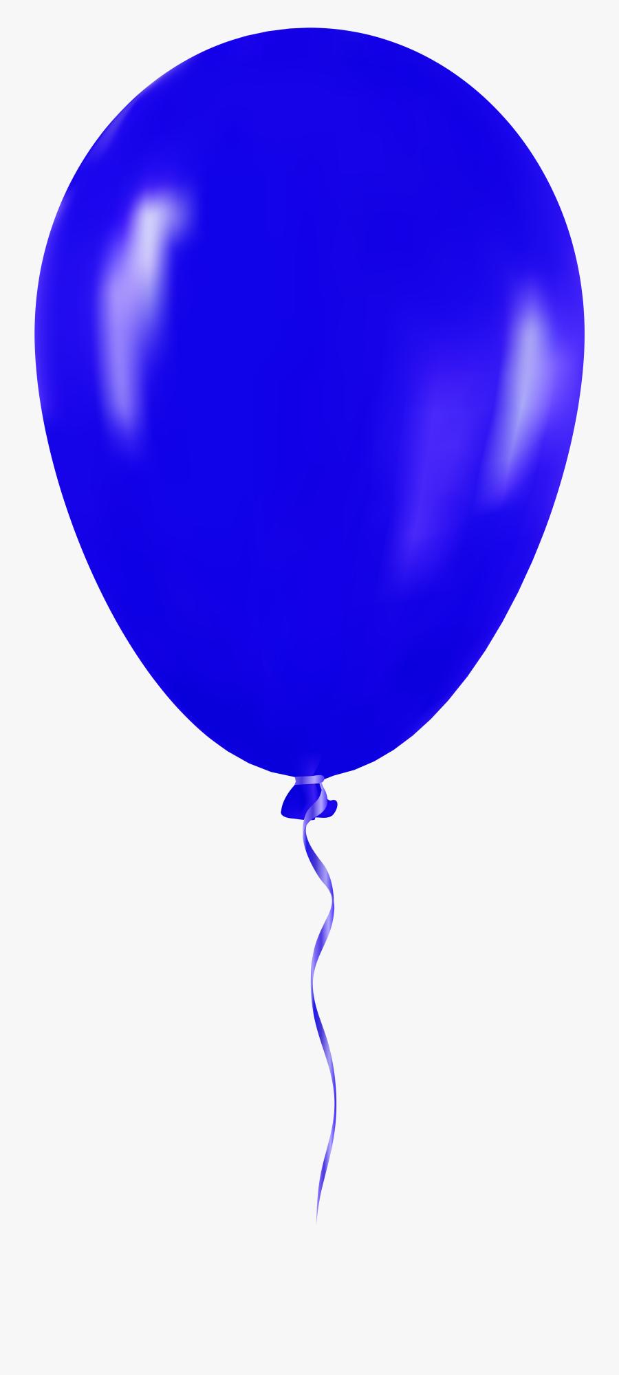 Blue Balloon Png Clip Art - Clip Art Blue Balloon, Transparent Clipart