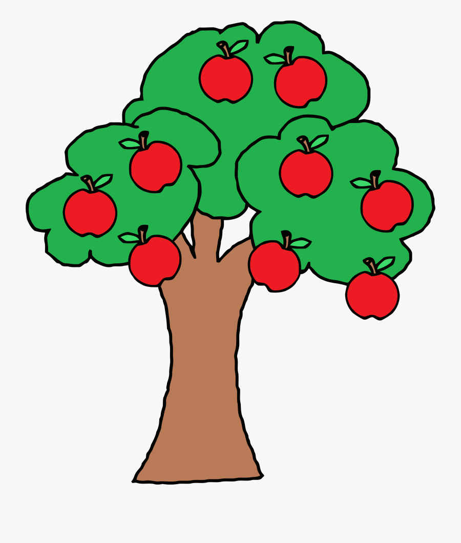 Fruit Tree Clipart At Getdrawings - Apples On A Tree Clipart, Transparent Clipart