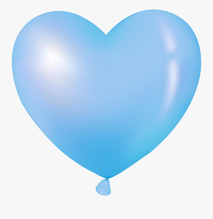Blue Heart Balloon Clip Art - Blue Heart Balloon Transparent, Transparent Clipart