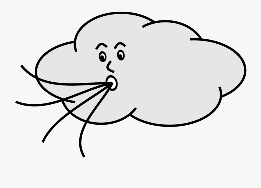 Cartoon Wind Blowing Gif, Transparent Clipart