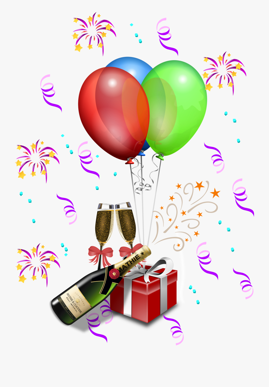 Birthday Party Decorations Png, Transparent Clipart