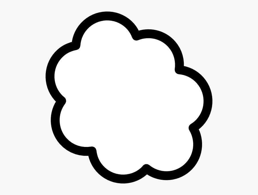 Thought Cloud 2 Clip Art - Thought Cloud, Transparent Clipart