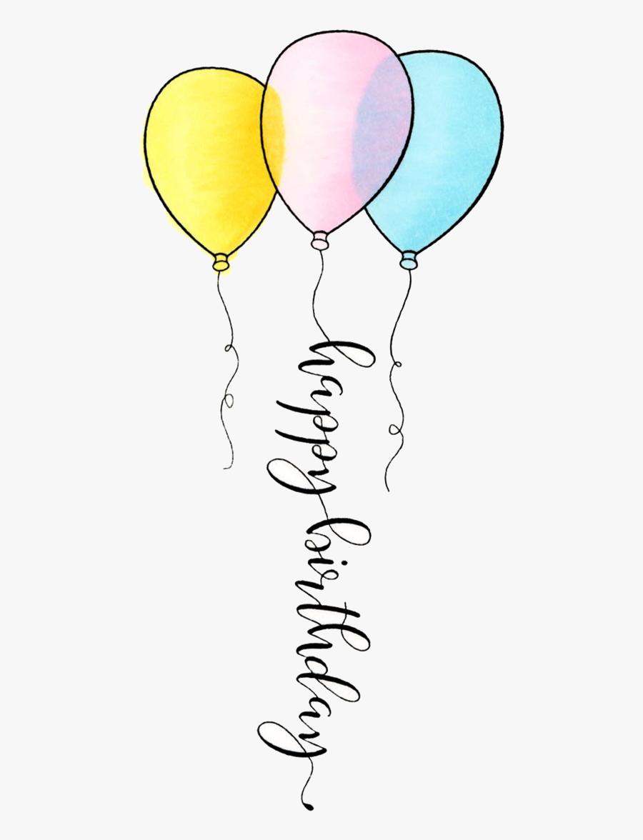 Ballon Drawing Birthday Balloon - Balloon Drawing, Transparent Clipart