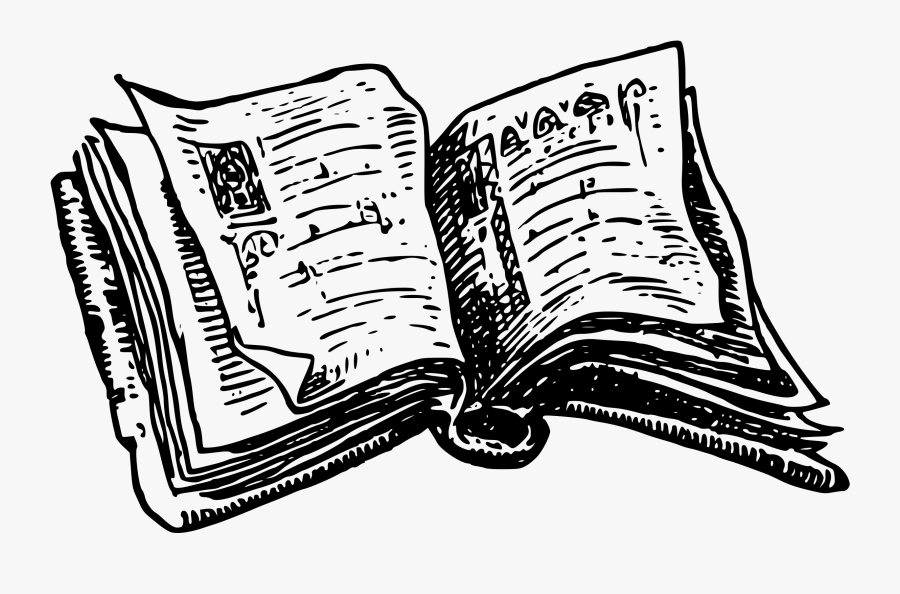Transparent Clip Art Book - Black And White Open Book Png, Transparent Clipart