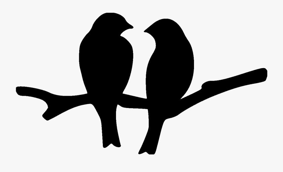 Love-birds File Size - Silhouette Love Birds Clipart, Transparent Clipart