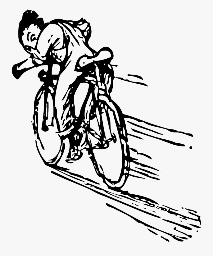 Riding A Bike - Riding A Bike Fast, Transparent Clipart