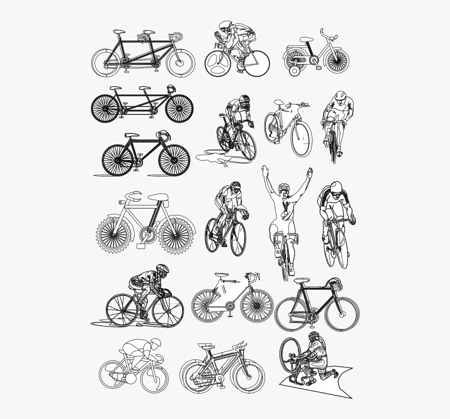 Transparent Bicycle Clipart Black And White Line Art Free Transparent Clipart Clipartkey