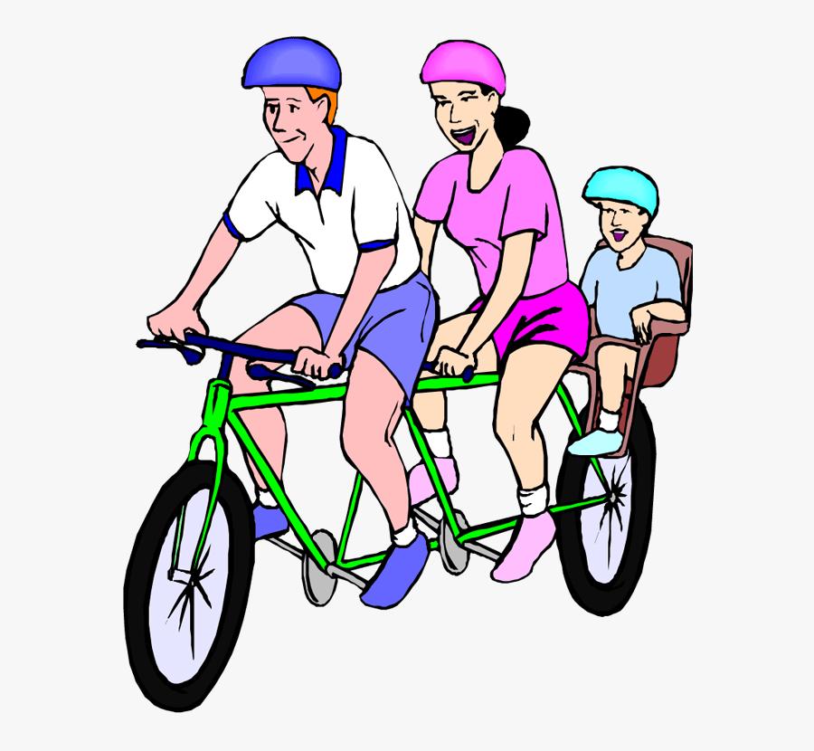 Transparent Bike Rider Png - Family Bike Riding Clipart, Transparent Clipart