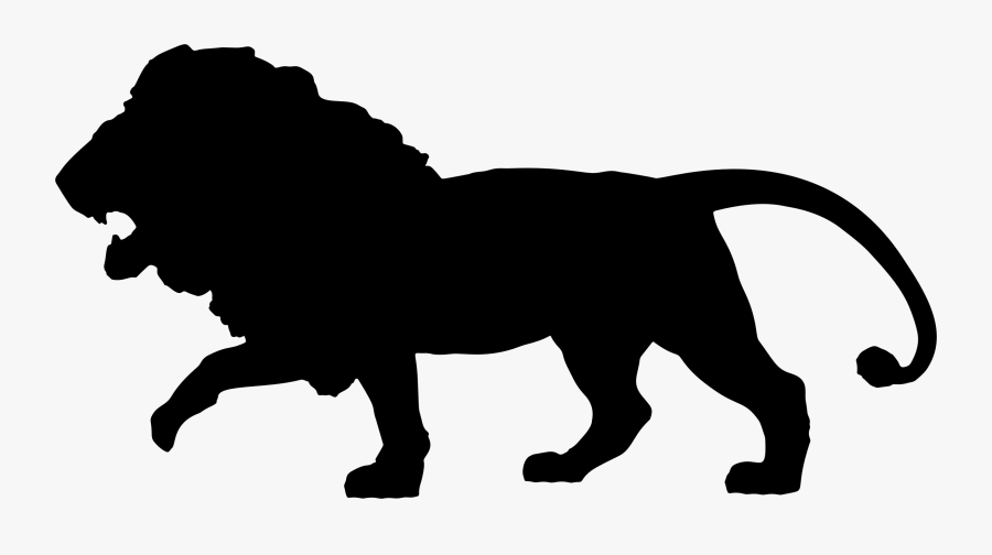 Silhouette African Wild Dog Lion Clip Art - Lion African Animal Silhouette, Transparent Clipart