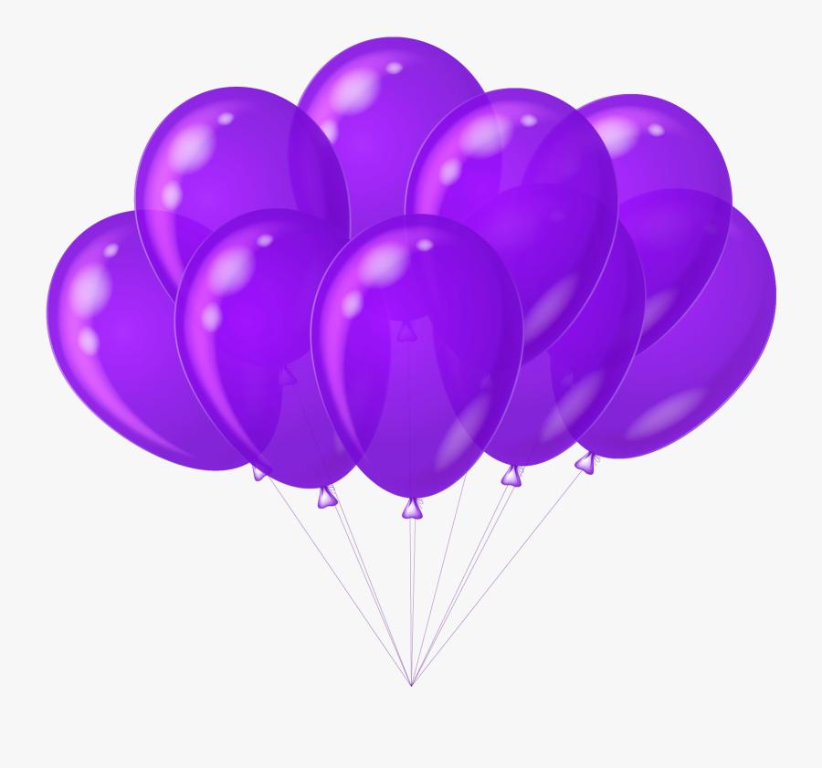 Balloon Clipart Purple Heart - Birthday Gif Pic Balloons, Transparent Clipart