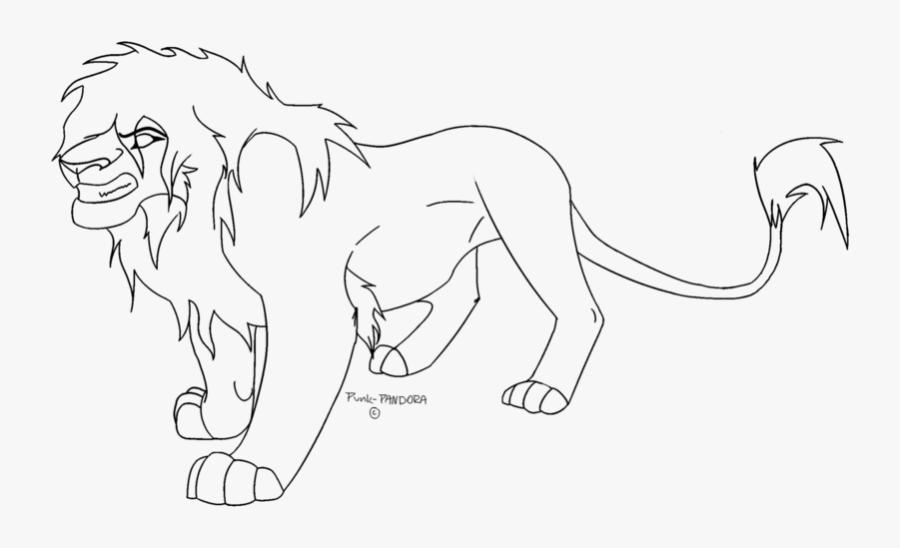 Clip Art Stock Lion Line Art Scar Roar Watercolor Transprent - Line Art, Transparent Clipart