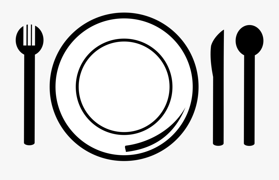 Fork And Knife Clipart - Plate And Fork Clipart, Transparent Clipart