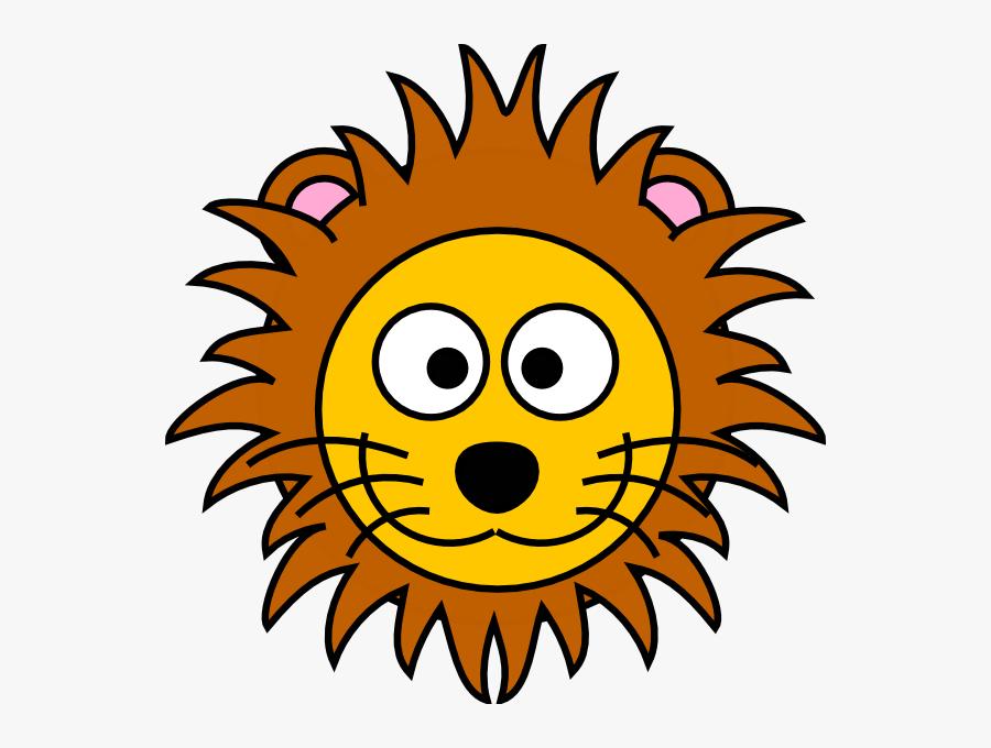 Lion Face Clipart, Transparent Clipart