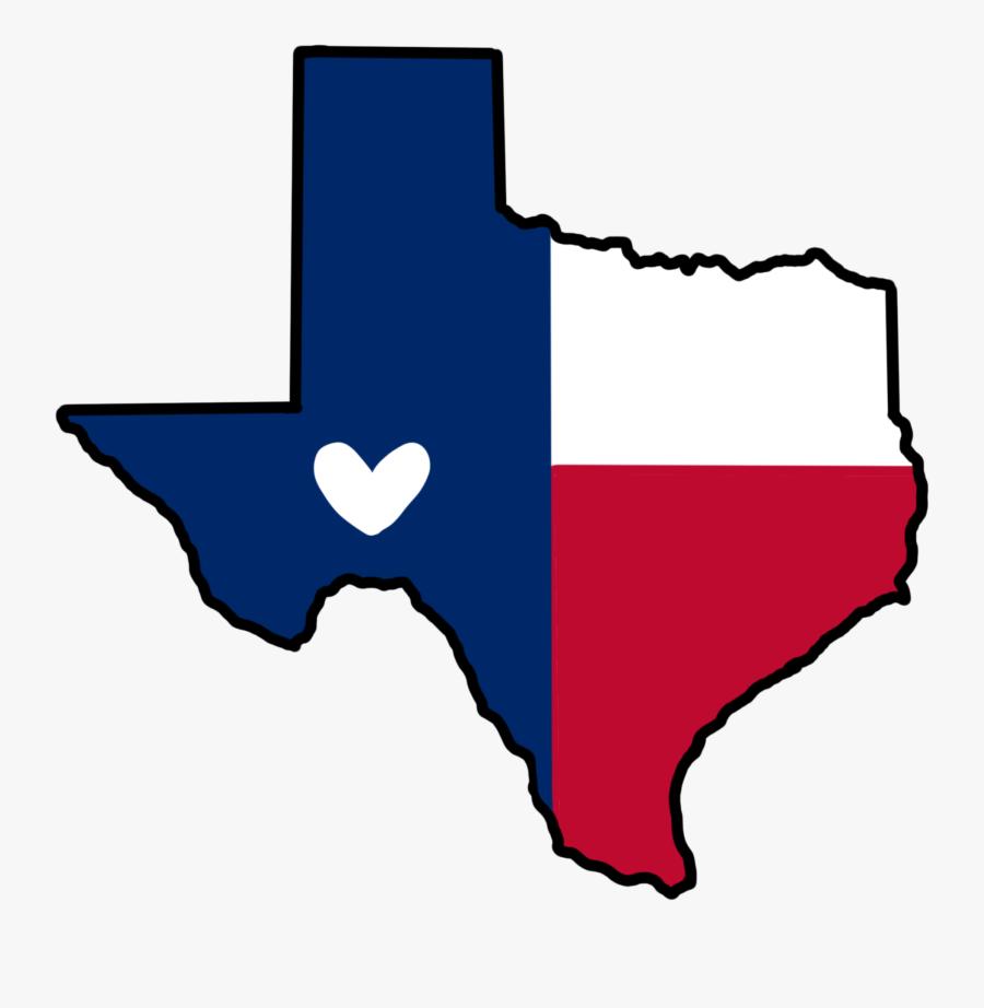 Donate Money Clipart - Texas Flag Map, Transparent Clipart