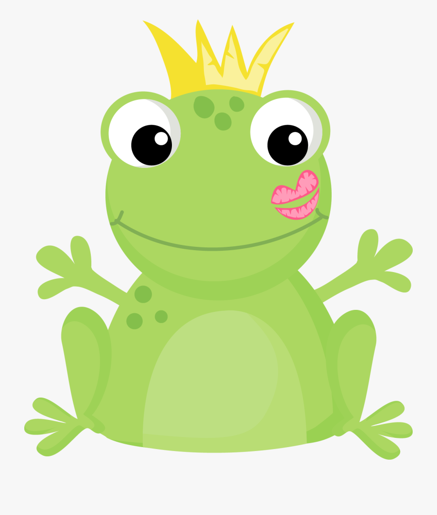Transparent Cartoon Frog Png - Cute Frog Prince Clipart, Transparent Clipart