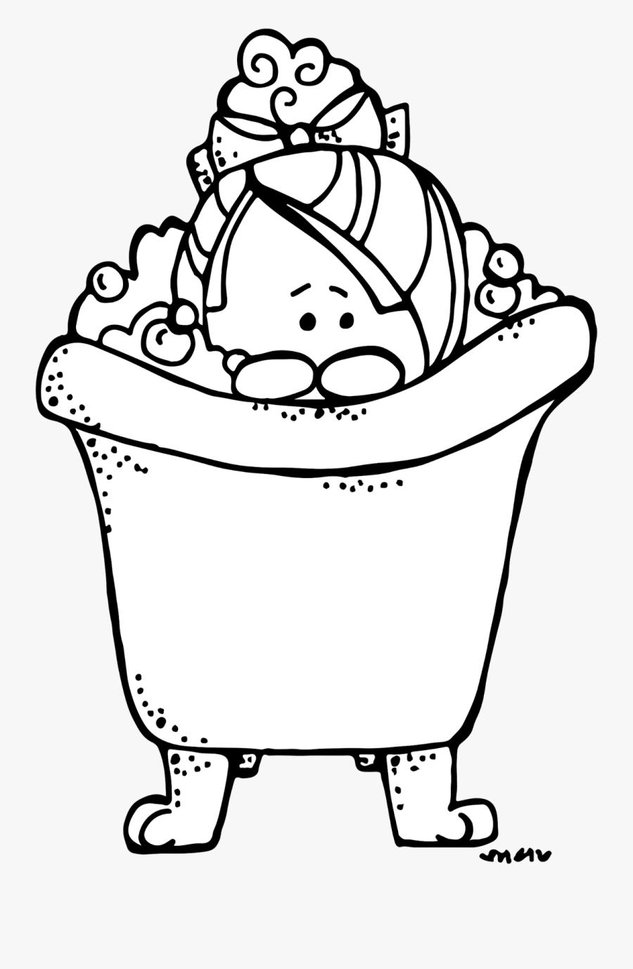 Teacher Clipart Bath Bubbles - Melon Headz Clipart Black And White, Transparent Clipart