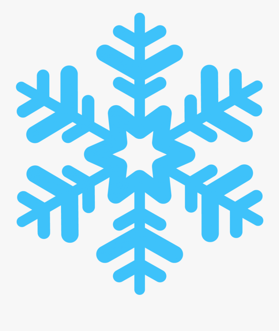 January Clipart Simple Blue Snowflake - Transparent Background Snowflake Png, Transparent Clipart