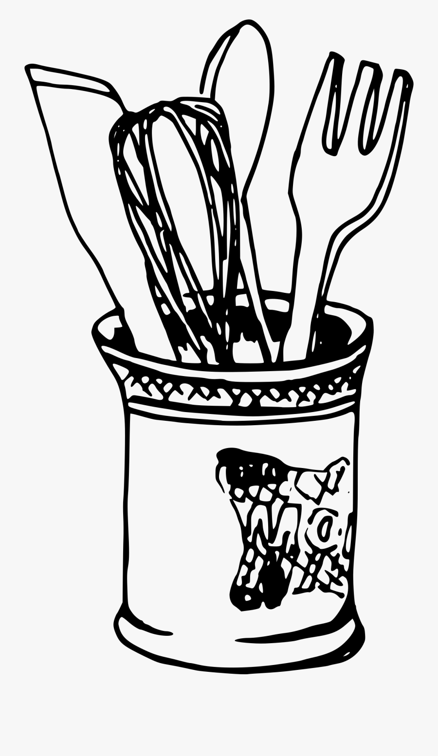 Knife And Fork Drawing At Getdrawings - Drawing Spoon And Fork Png, Transparent Clipart