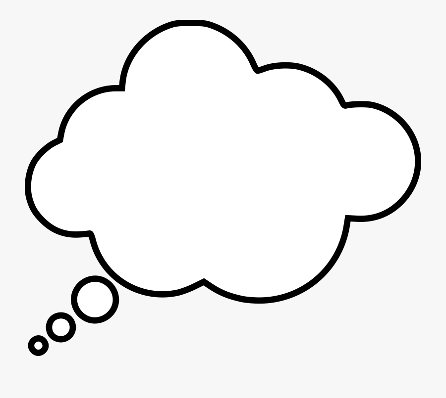 Thought Bubble Balloon Speech Think Free Clipart Hq - Dream Bubble White Png, Transparent Clipart