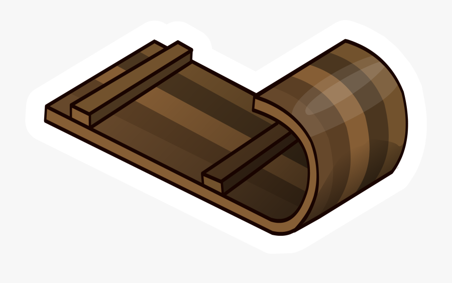 Toboggan Pin - Sled Png, Transparent Clipart
