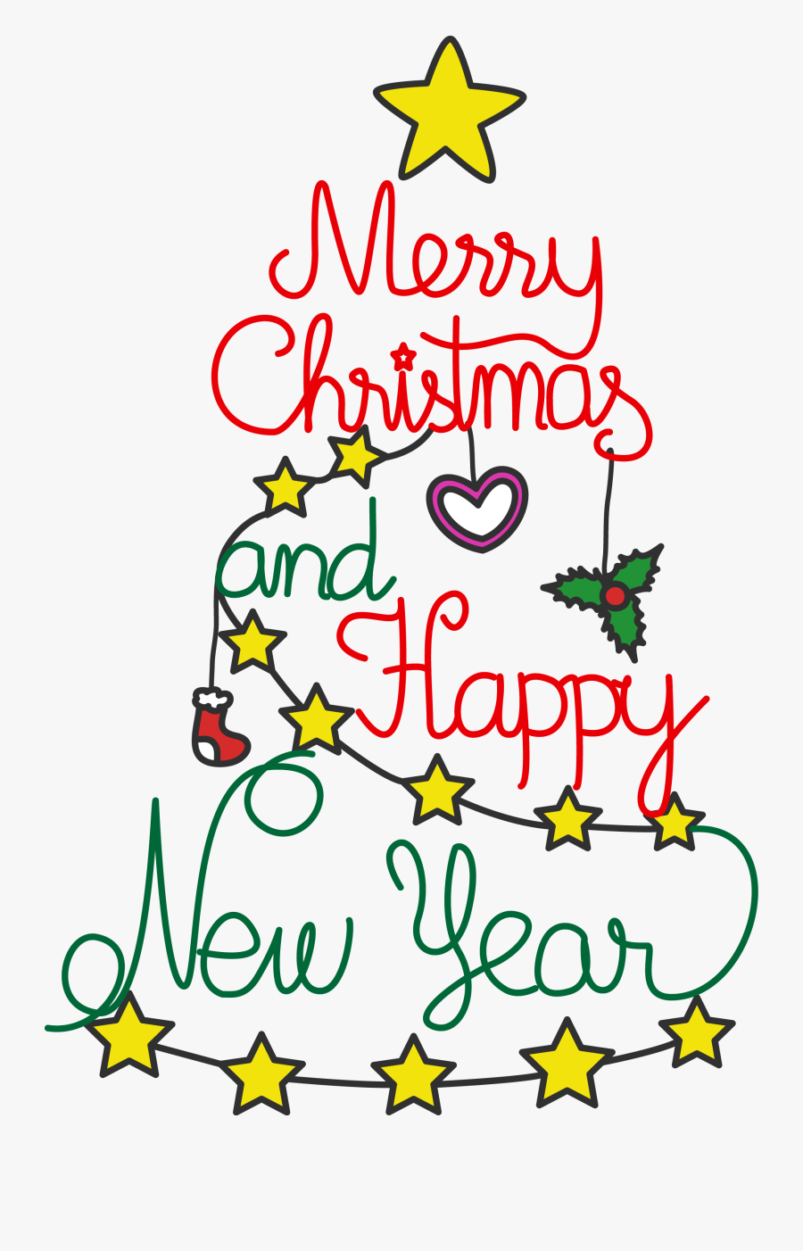 And New Year Clip - Christmas And Happy New Year Png, Transparent Clipart