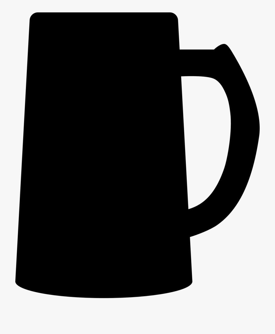 Cup,tableware,mug - Beer Mug Silhouette Png, Transparent Clipart