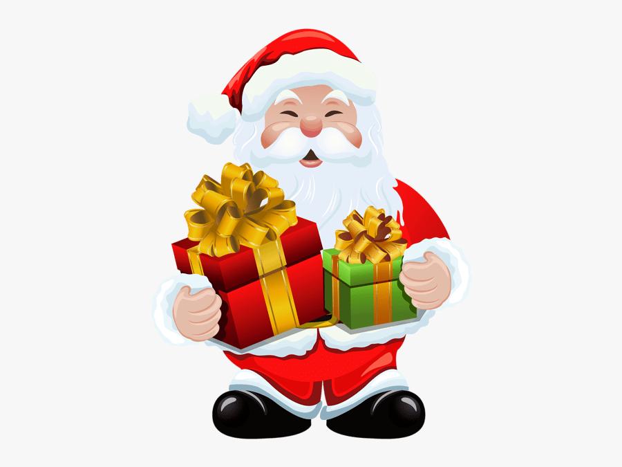 Santa Claus Gift Png, Transparent Clipart