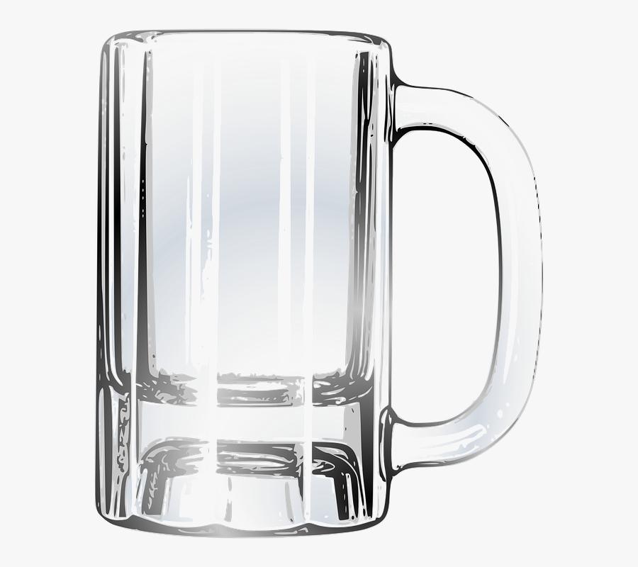 Empty Beer Mug Transparent, Transparent Clipart