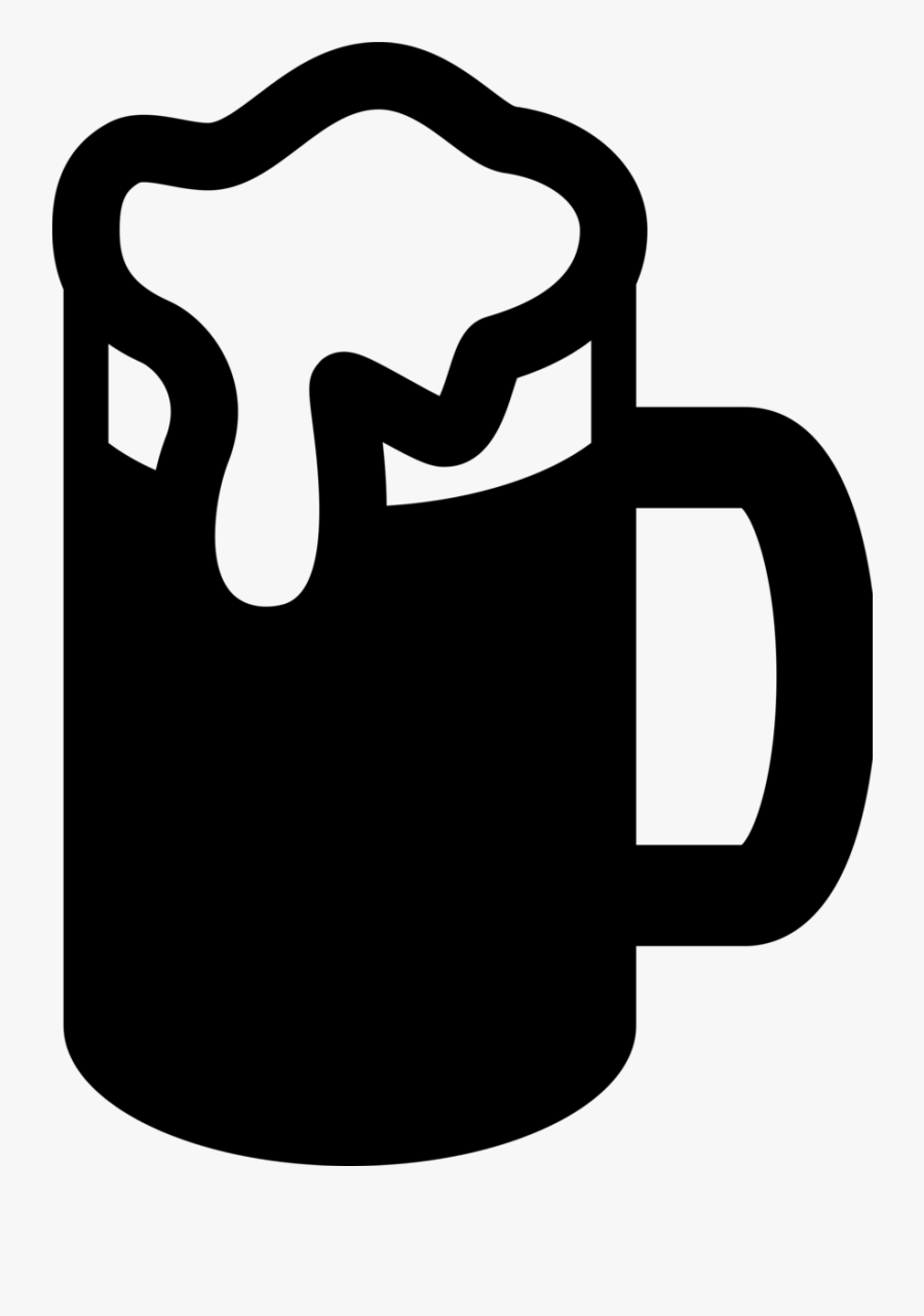 Birthday Party Clipart - Beer Mug Silhouette Png, Transparent Clipart