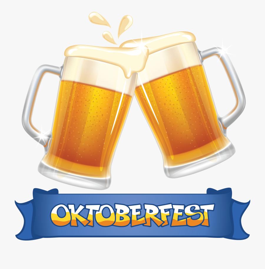 Oktoberfest Beer Clip Art - 2 Beer Mugs Cheers, Transparent Clipart