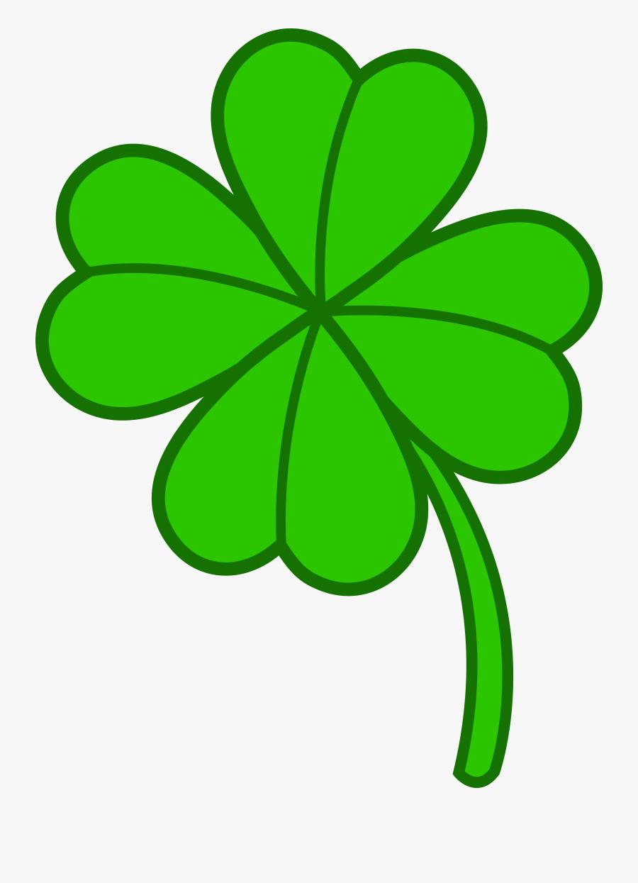 Simple Four Leaf Clover, Transparent Clipart