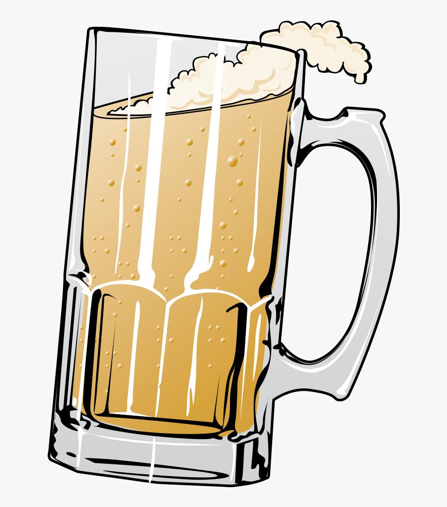 Beer Mug Illustration, Transparent Clipart