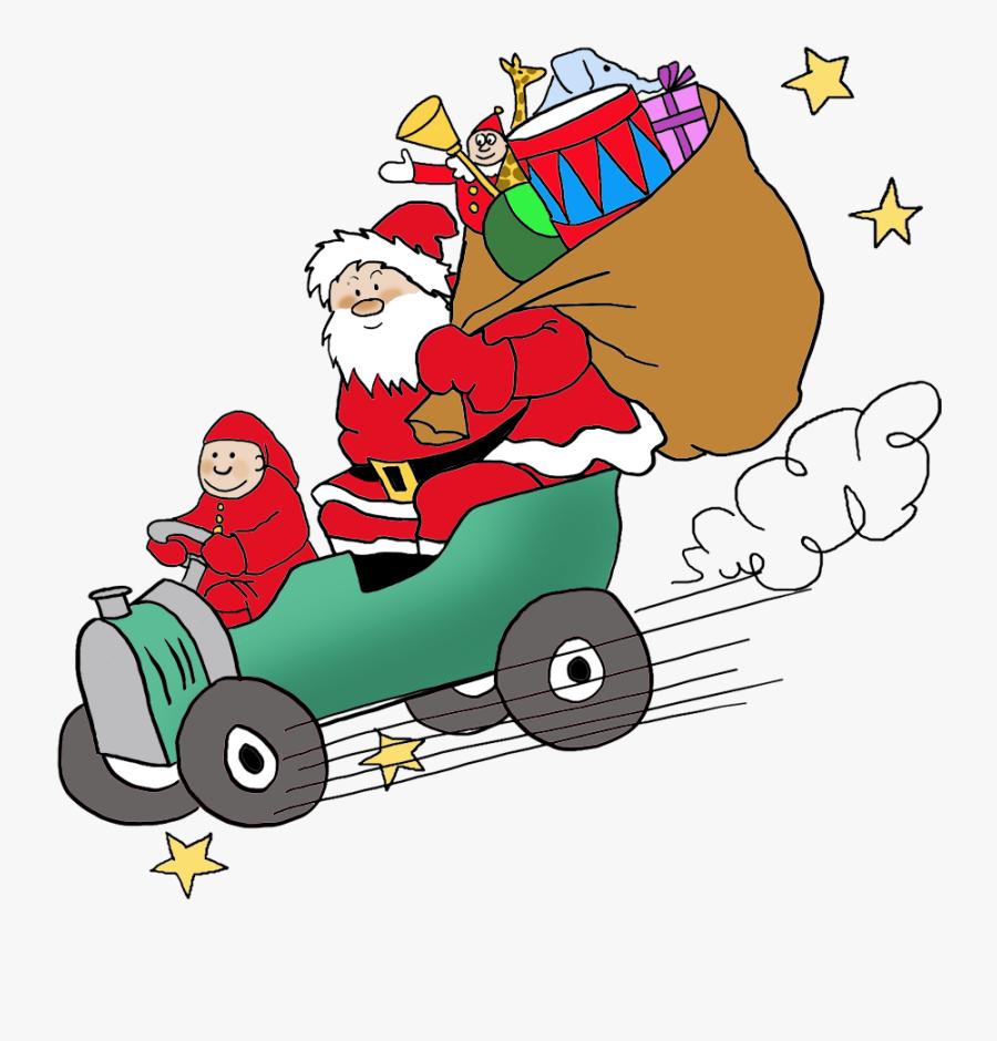 Funny And Free Santa Claus Clipart - Santa Claus Car Png, Transparent Clipart