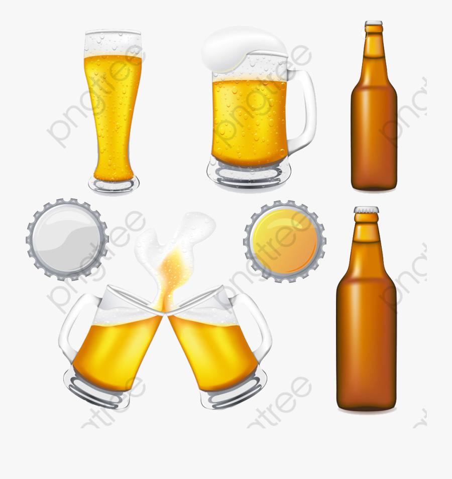 Cartoon Beer Mug Bottle Image, Cartoon Clipart, Beer - Beer Bottle And Mug Clipart, Transparent Clipart