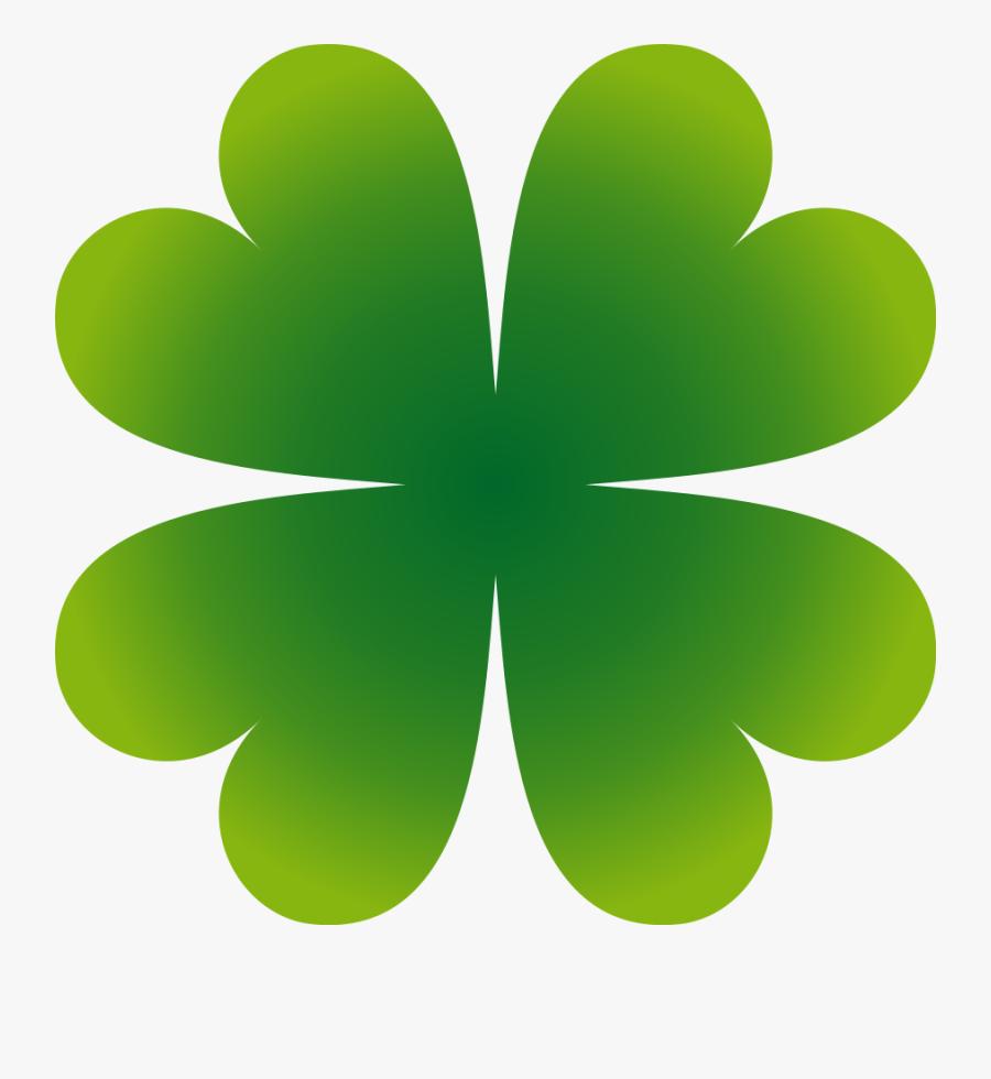 Simple Four Leaf Clover Clipart - Four Leaf Clover Animated, Transparent Clipart