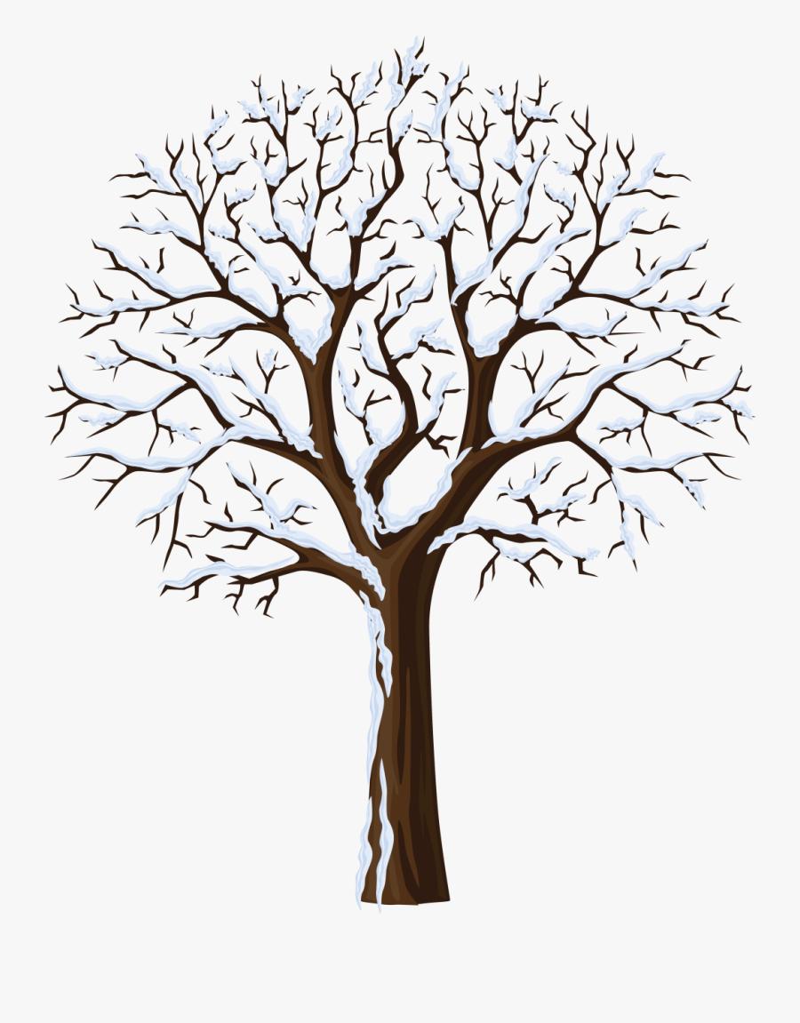 January Clipart Snowtree - Winter Tree, Transparent Clipart