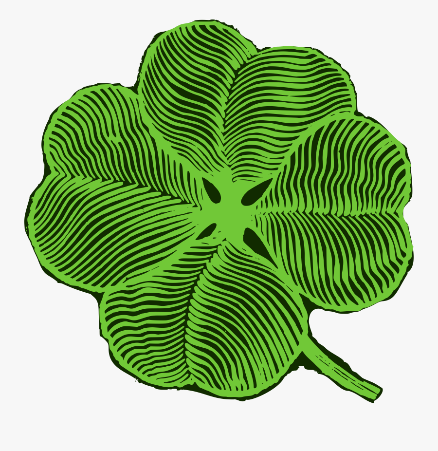 Four-leaf Clover, Transparent Clipart