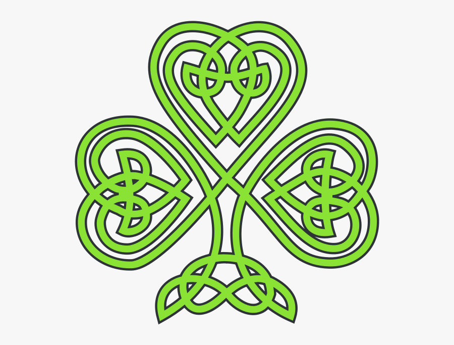 Celtic Knot Four Leaf Clover Clipart - St Patricks Day Celtic, Transparent Clipart