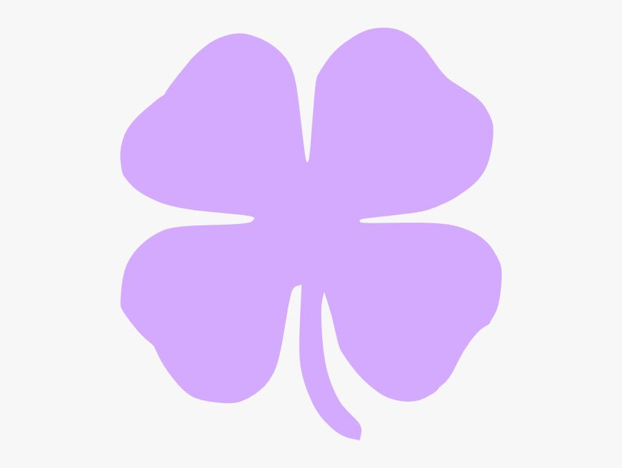 Four Leaf Clover 4 Leaf Clover Clip Art At Vector Clip - Purple 4 Leaf Clover, Transparent Clipart