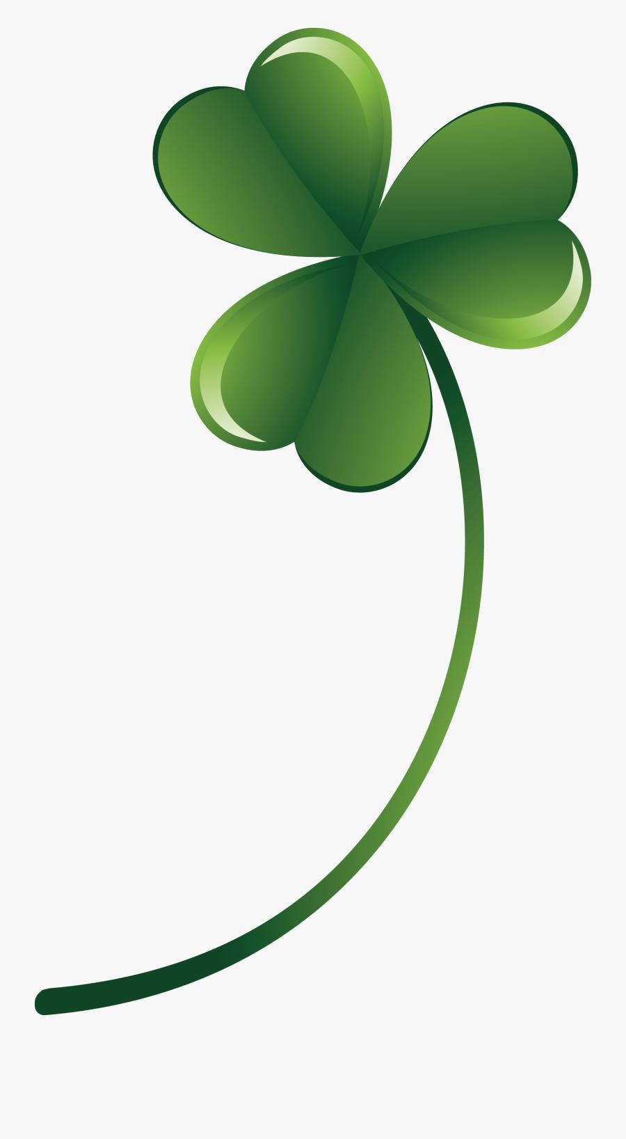 Four-leaf Clover Euclidean Vector - Transparent Background Four Leaf Clover Vector Free, Transparent Clipart