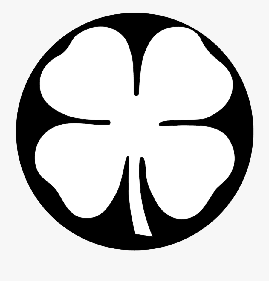 "Apollo Design ""four Leaf Clover - Free Black And White Four Leaf Clover, Transparent Clipart"