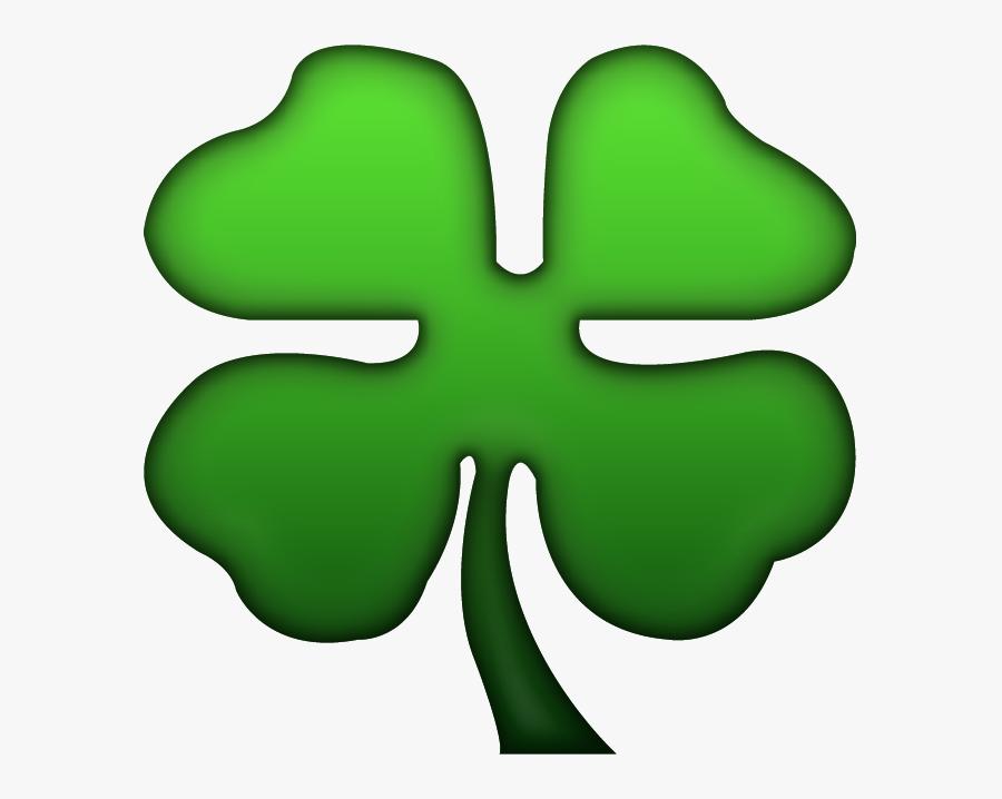 Four Leaf Clover Emoji Png, Transparent Clipart