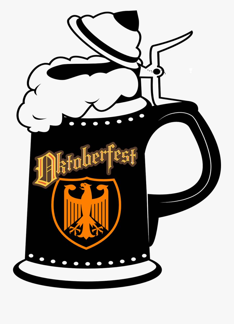 German Beer Mugs Clip Art, Transparent Clipart