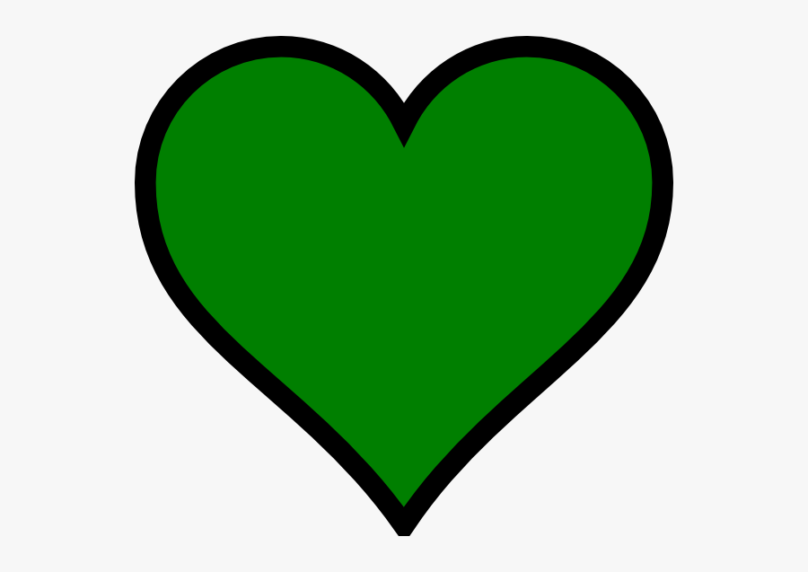 Green And Black Heart, Transparent Clipart