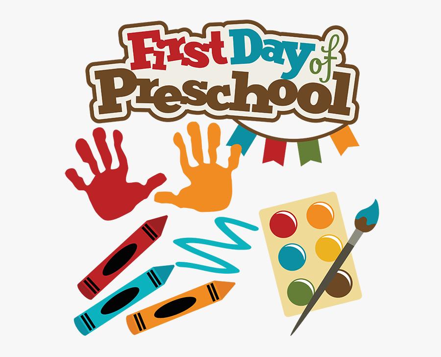 Preschool 1st Day Of School, Transparent Clipart