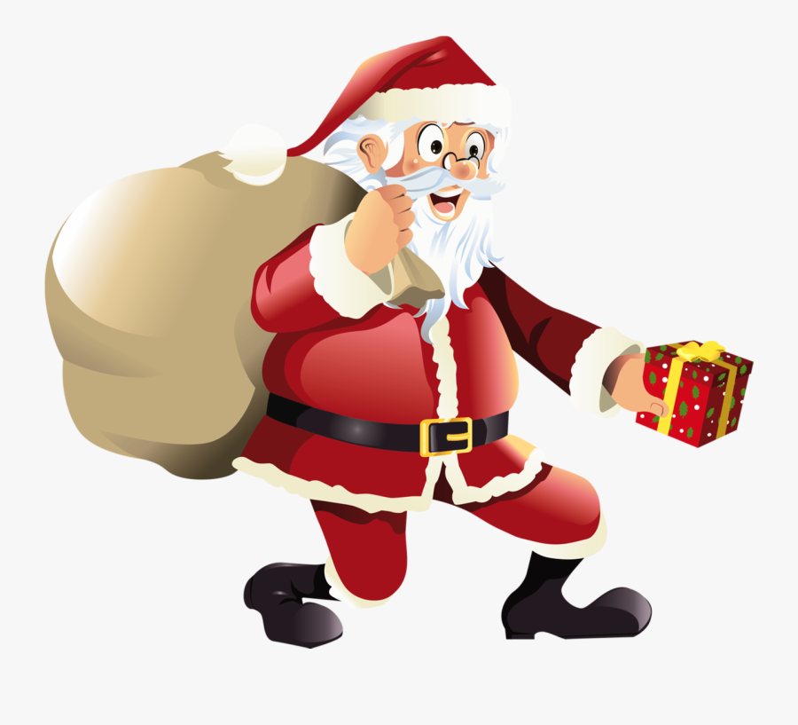 Year Without Santa Characters Clipart - Santa Cartoon No Background, Transparent Clipart